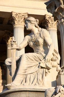 Free The Austrian Parliament In Vienna, Austria Stock Image - 32050411