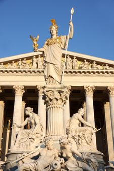 Free The Austrian Parliament In Vienna, Austria Stock Image - 32050451