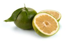 Free Citrus Sweety Fruit With Leaves Stock Photo - 32050930