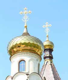 Golden Dome Of The Orthodox Church Stock Images