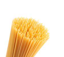 Free Closeup Top Bunch Spaghetti On A White Background Royalty Free Stock Photo - 32051275