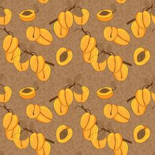 Free Vector Seamless Pattern With Apricot Stock Photo - 32054600