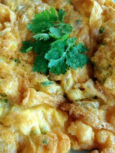 Omlette From Thailand Stock Photo