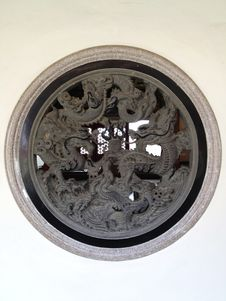 Free Dragon Window Stock Photo - 32056770
