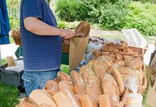 Free Artisanal Bread At Farmers Market Stock Image - 32058221