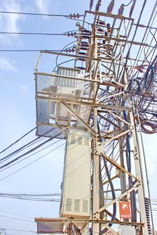 Free High Voltage Substation Stock Photos - 32058923