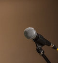 Free Grey Iron Microphone On Brown Background Stock Photo - 32061910