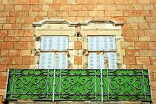 Free Facade Of Old Building Made Of Jerusalem Stone Stock Image - 32061341
