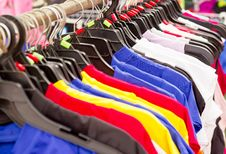 Free Mix Color Clothes And Tie Royalty Free Stock Image - 32067956