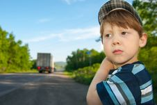 Free Boy With A Sad Look Stock Image - 32069201