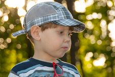Free Little Boy In A Cap Stock Photography - 32069272