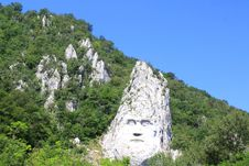 Decebal Carved In The Mountains Stock Image