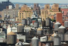 New York City Roofs 3 Royalty Free Stock Image