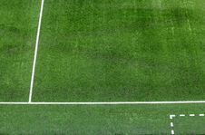 Free White Lines On The Football Field. Stock Images - 32076514