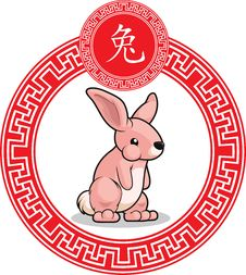 Free Chinese Zodiac Animal - Rabbit Royalty Free Stock Image - 32078276