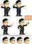 Free Businessman Or Office Executive Customizable Masco Stock Images - 32078194