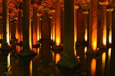 Istanbul Basilica Cistern Stock Photography