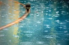 Free Water Surface On A Rainy Day Royalty Free Stock Photos - 32080568