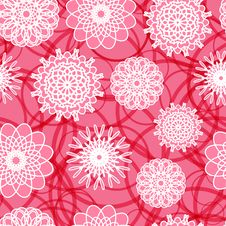 Free Pink Flowers Seamless Pattern Royalty Free Stock Photo - 32087115