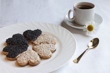 Cookies For The Wedding With A Cup Of Coffee Stock Image