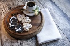 Free Wedding Cookies With White And Black Sesame. Retro Style. Stock Photo - 32090400