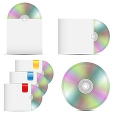 Set Of Disks In Packages Stock Images
