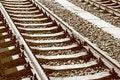 Free Railway In Sepia Stock Photo - 3214550