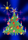 Free Christmas Tree And Stars Stock Photos - 3217373