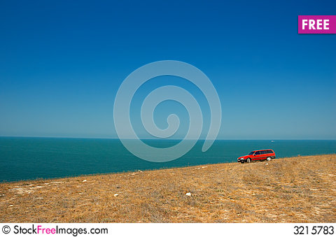 Free Red Car On The Slope Stock Photos - 3215783
