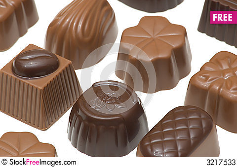 Free Assortment Of Chocolates Stock Photos - 3217533