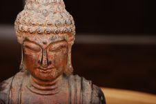 Free Buddha Over Black Background Stock Photo - 3210280