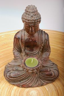Free Buddha Over Black Background Royalty Free Stock Images - 3210289
