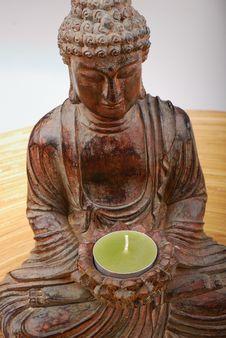 Buddha Candle Holder Stock Photography