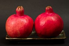 Free Two Pomegranates Stock Images - 3210304