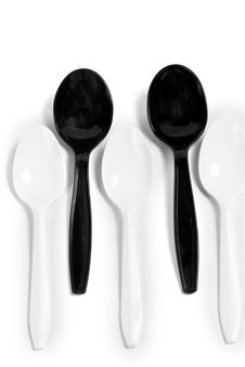 Plastic Spoons Royalty Free Stock Images