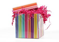 Free Striped Giftbox Stock Image - 3210581