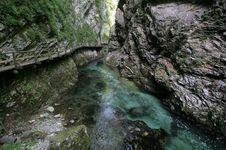 Free Gorge Of Mountain River Royalty Free Stock Photos - 3211418