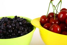 Free Blueberries And Cherry Stock Image - 3211801