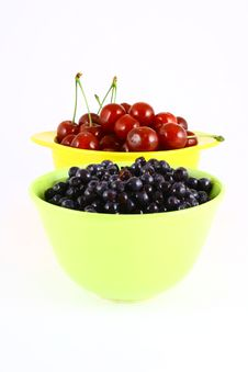 Free Blueberries And Cherry Stock Photo - 3211810
