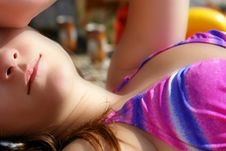 Free Young Woman Sunbathing On Beac Royalty Free Stock Photos - 3211988