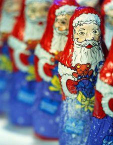 Santa Claus, Chocolate Royalty Free Stock Photo