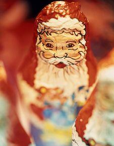 Santa Claus Chocolate Stock Images