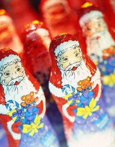 Santa Claus; Chocolate Royalty Free Stock Images