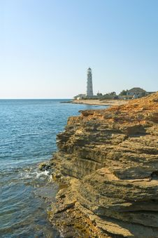 Free Lighthouse, Sea And Rock Royalty Free Stock Image - 3213336