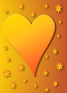 Free Golden Heart Royalty Free Stock Photo - 3213675