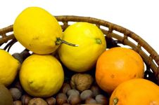 Lemons, Oranges And Hazelnuts Stock Image