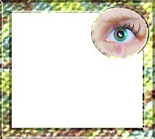 Free Eyes Flash Border Royalty Free Stock Photography - 3214457