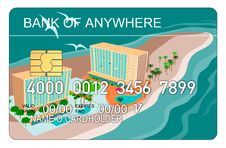 Free Credit Card With Building Stock Photography - 3214662