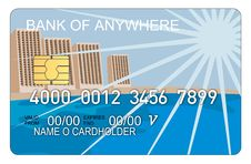 Free Credit Card With Buildings Stock Images - 3214664