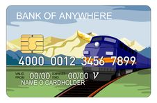 Free Credit Card With Train Stock Photos - 3214703